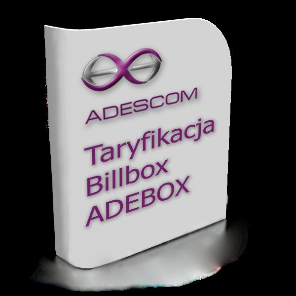 Oprogramowanie-Taryfikacja Billbox ADEBOX